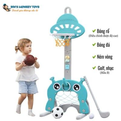 Bộ đồ chơi bóng rổ 3 trong 1 5