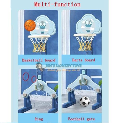 Bộ đồ chơi bóng rổ 3 trong 1 6