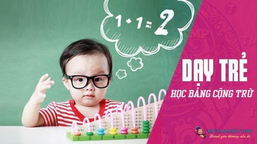 Cách dạy trẻ học thuộc bảng cộng trừ 3
