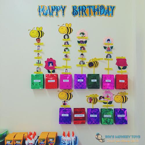 Trang trí góc sinh nhật mầm non 5