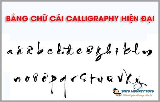 Bảng chữ cái calligraphy hiện đại