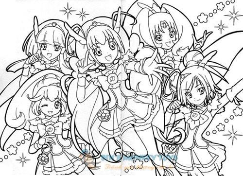 Tranh tô màu anime 12 cung hoàng đạo 8
